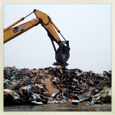 A Staten Island debris dump, where many treasured belongings have ended up.